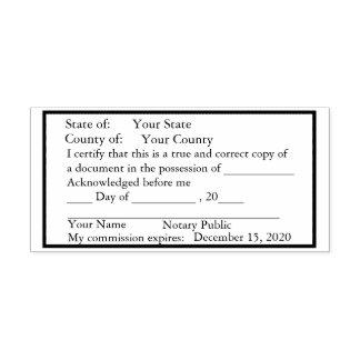Tampon Auto-encreur Timbre standard de copie de notaire