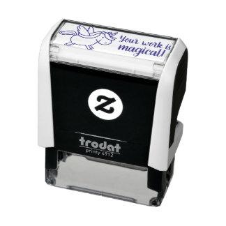 Tampon Auto-encreur Votre travail est licorne magique de timbre de