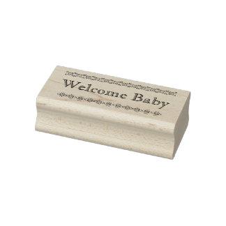 Tampon en caoutchouc bienvenu de bébé