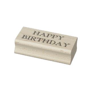 Tampon en caoutchouc de joyeux anniversaire,