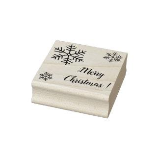 Tampon en caoutchouc de Joyeux Noël (papeterie)