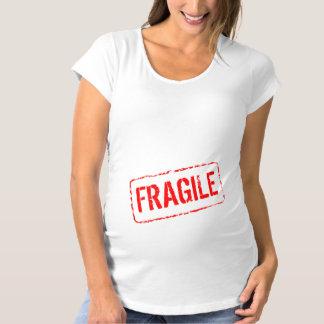 Tampon en caoutchouc fragile de maternité drôle de T-Shirt de maternité