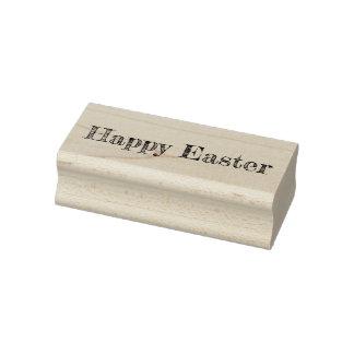 Tampon en caoutchouc heureux de Pâques