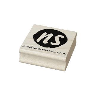 Tampons en caoutchouc du site Web   d'initiales de