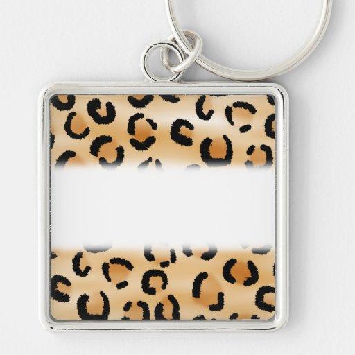 Tan, noir et modèle d'empreinte de léopard de Brow Porte-clé