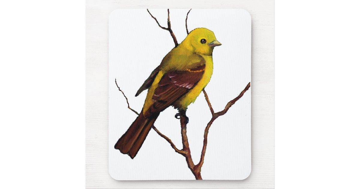Tanager oiseau pastel d 39 huile art main tapis de for Surface minimum bureau code du travail