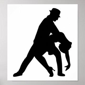 Tango de couples de danse poster