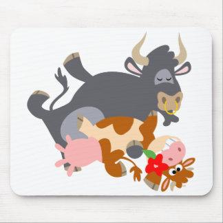 Tango ! ! (taureau et vache de bande dessinée) mou tapis de souris
