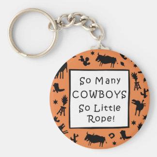 Tant de cowboys tellement peu de corde porte-clé rond