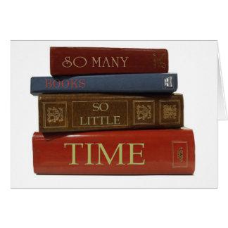 Tant de livres tellement peu d'heure carte de vœux