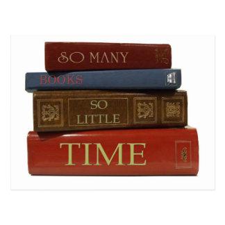 Tant de livres tellement peu d'heure carte postale