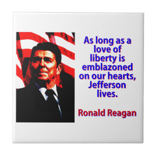 Tant que un amour de la liberté - Ronald Reagan Petit Carreau Carré