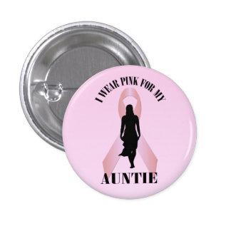 Tante rose Button de cancer du sein de ruban Badge