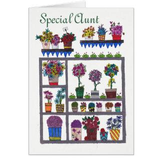 Tante spéciale Flowers et carte de plantes