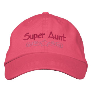 Tante superbe brodée Hat Casquette Brodée