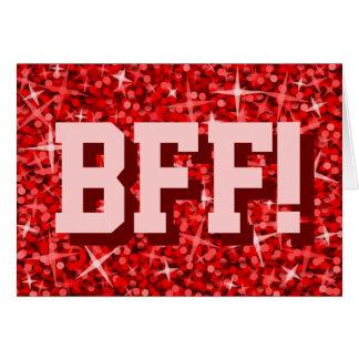 """Tape-à-l'oeil """"BFF rouges !"""" Carte de voeux de"""
