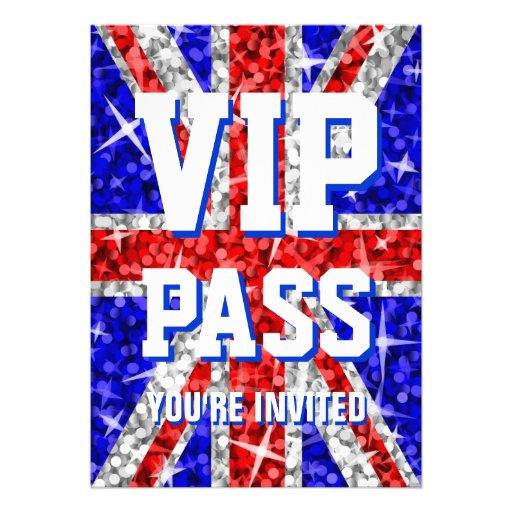 "Tape-à-l'oeil R-U invitation ""de PASSAGE de VIP"""