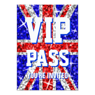 "Tape-à-l'oeil R-U invitation ""de PASSAGE de VIP"" Carton D'invitation 12,7 Cm X 17,78 Cm"