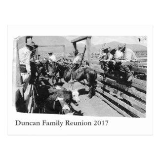 Tapez la carte postale de la Réunion de Duncan