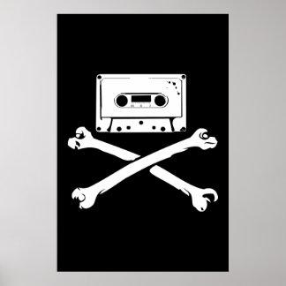 Taping à la maison de piraterie de bande et de pir affiche