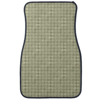 Tapis avant grunge Checkered de voiture de vert