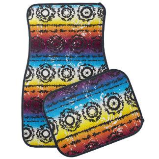 Tapis colorés de voiture de conception de batik de