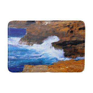 Tapis De Bain Accident de vague de bord de la mer