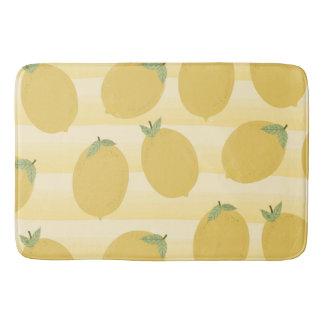 Tapis De Bain Amusement jaune d'aquarelle de fruit d'été de