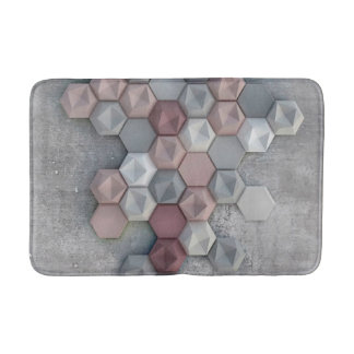 """Tapis de bain architectural d'hexagones 20"""" l X"""