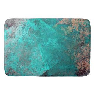 Tapis De Bain arrière - plan grunge turquoise de texture de