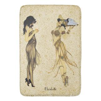 Tapis De Bain Art vintage de deux style floral de Nouveau de