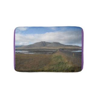 Tapis de bain avec le paysage islandais
