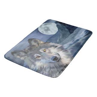 Tapis De Bain Beau loup de scène d'hiver