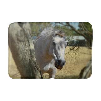 Tapis De Bain Blanc de neige le cheval, mousse de mémoire,