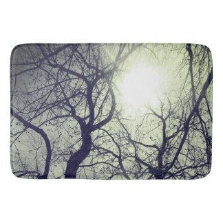 Tapis de bain   blanc du soleil de noir   abstrait