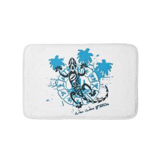 Tapis de bain blanc horoscope lézard