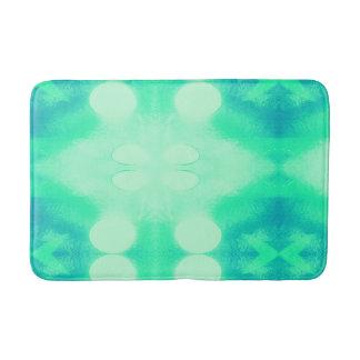 Tapis de bain bleu et vert d'Ikat