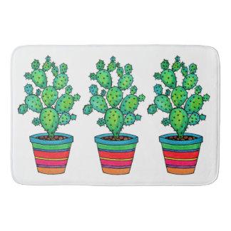 Tapis De Bain Cactus magnifique d'aquarelle dans le beau pot