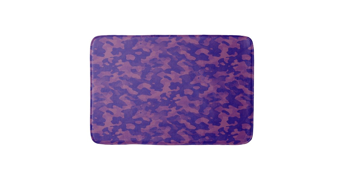tapis de bain camouflage violet. Black Bedroom Furniture Sets. Home Design Ideas