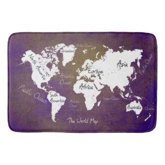 Tapis De Bain carte 2 du monde
