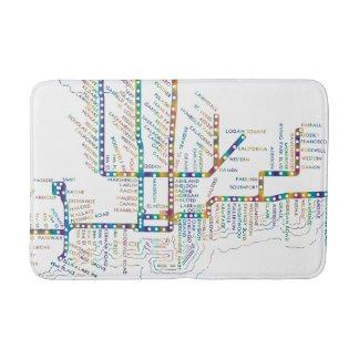 Tapis De Bain Carte de souterrain de Chicago avec le COLORANT de