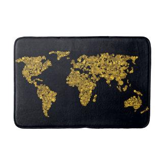 Tapis De Bain Carte d'or du monde de point