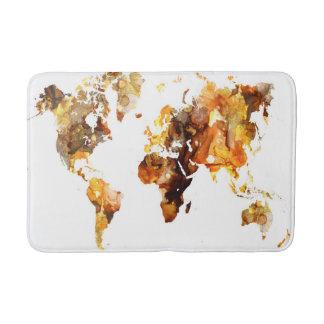 Tapis De Bain Carte du monde de la conception 102