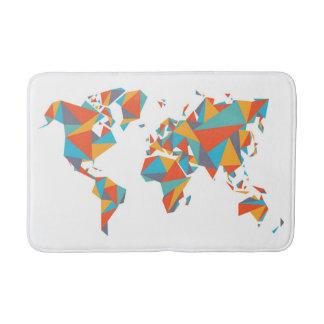 Tapis De Bain Carte géométrique abstraite du monde