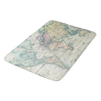 Tapis De Bain Carte vintage du monde (1801)