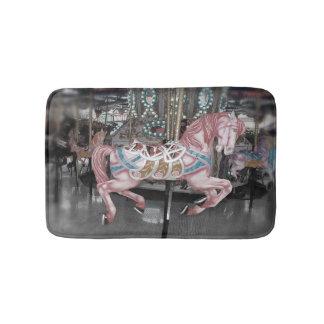 Tapis De Bain Cheval rose de carrousel