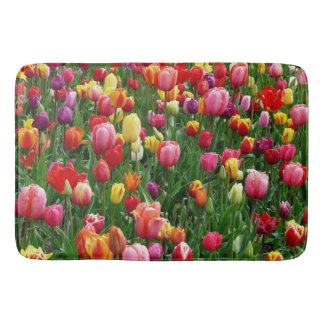 Tapis de bain coloré de tulipes