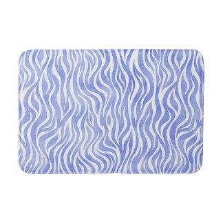 Tapis De Bain Copie bleue de zèbre d'aquarelle de denim