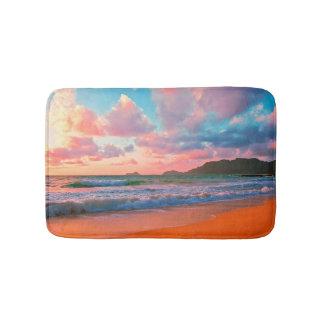 Tapis De Bain Coucher du soleil hawaïen tropical