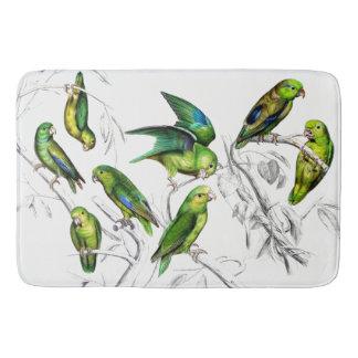 Tapis de bain d'animaux de faune d'oiseaux